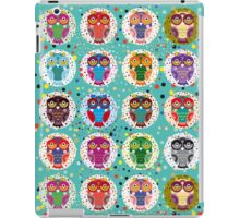 funny colorful owls iPad Case/Skin