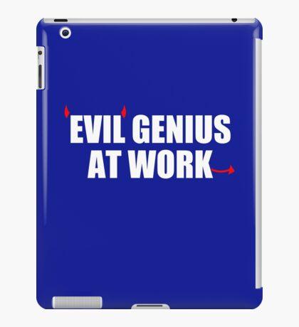 EVIL GENIUS AT WORK - Funny T-Shirt - Mens  iPad Case/Skin