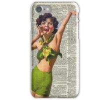 Vintage Girl with a starfish,60',70',Sunbathing,Summer,Holidays,Dictionary Art iPhone Case/Skin