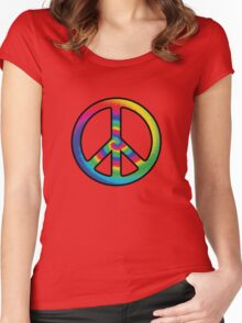 Tie-dye (peace symbol) Women's Fitted Scoop T-Shirt