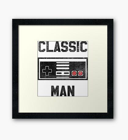 Classic Man (NES) Framed Print