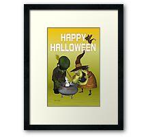 Pot Ghost .. halloween card Framed Print