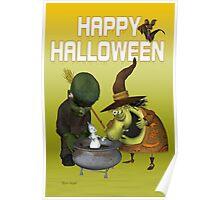 Pot Ghost .. halloween card Poster