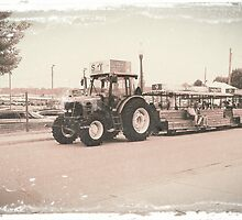 Indiana State Fair Tractor Shuttles by Gary  Oertel