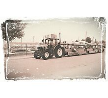 Indiana State Fair Tractor Shuttles Photographic Print