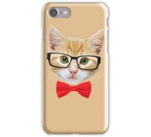 The Geek Cat iPhone Case/Skin