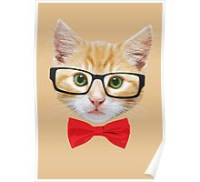 The Geek Cat Poster