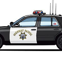 California Highway Patrol Crown Vic Patrol Car by Tom Mayer