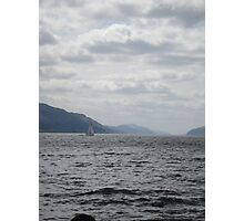 Yacht on Loch Ness Photographic Print