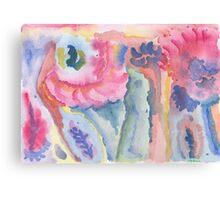 Coloured impressions Canvas Print