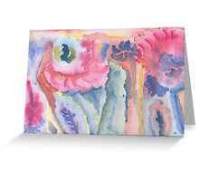 Coloured impressions Greeting Card