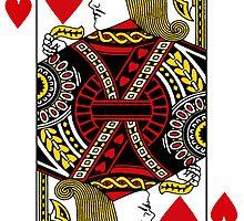 Jack of Hearts Playing Card Sticker by ukedward