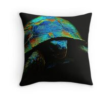 Inexpugnable Fractal Tortoise Throw Pillow