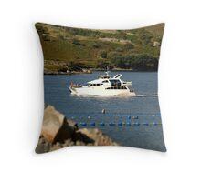 Cruiser at Killary Harbour, Ireland Throw Pillow