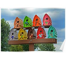 Birdhouses in Style Poster