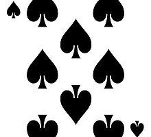 Eight of Spades Playing Card Sticker by ukedward
