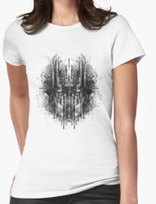 dark thoughts - sauron Womens Fitted T-Shirt