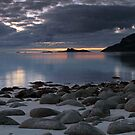 Rocks on a sandy beach by Frank Olsen