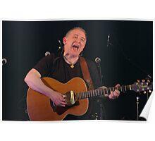 folk singer with guitar Poster