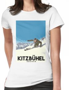 Ski Kitzbühel Austria Womens Fitted T-Shirt