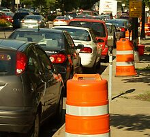 Parking and road works in the USA by AlbertLake