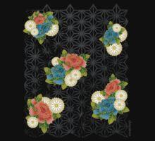 Asanoha pattern One Piece - Short Sleeve