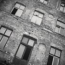 Derelict old apartment building in Warsaw Poland by RedSteve