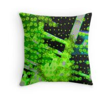 green virus Throw Pillow