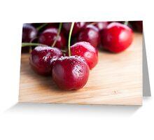 Cherries on Cutting Board Greeting Card