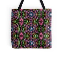 Hexagons Of Colour - Multicoloured Retro Pattern Tote Bag