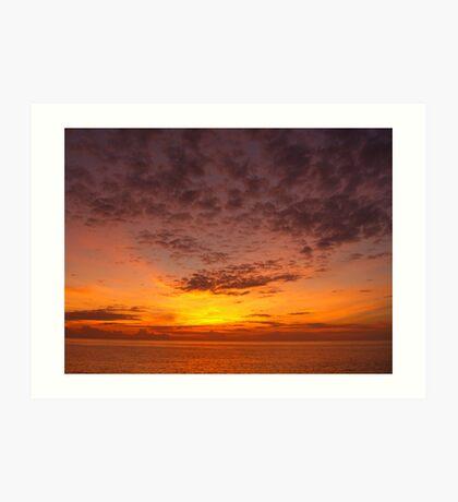 Sunset, 11-21-05 Art Print