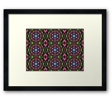 Hexagons Of Colour - Multicoloured Retro Pattern Framed Print