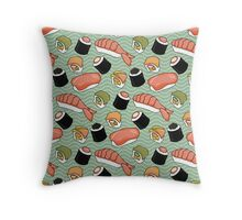 Sushi Lovers Throw Pillow