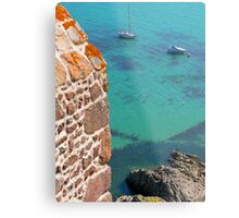 Mont Orgueil Castle and Gorey Harbour Metal Print