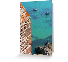 Mont Orgueil Castle and Gorey Harbour Greeting Card