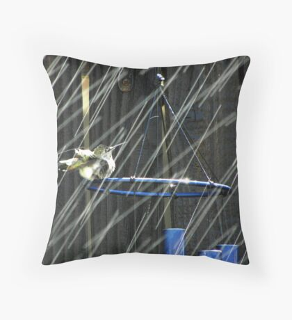 Shower with Chimes Throw Pillow