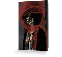 The Woman in the Red Hat. Greeting Card