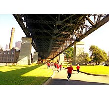 School Children Running, Sydney  Photographic Print