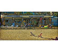 Eating Periwinkles In Eastbourne Photographic Print