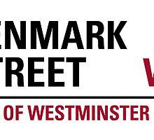 Denmark Street London Road Sign by ukedward