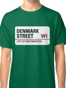 Denmark Street London Road Sign Classic T-Shirt