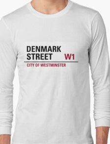 Denmark Street London Road Sign Long Sleeve T-Shirt