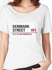 Denmark Street London Road Sign Women's Relaxed Fit T-Shirt