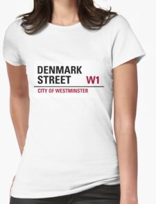 Denmark Street London Road Sign	 Womens Fitted T-Shirt