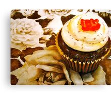 The Cupcake in Sepia Canvas Print