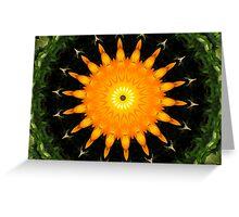 Orange sun Greeting Card