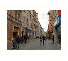 City life in Sarajevo Art Print