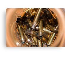 Brass Bullet Casings Canvas Print