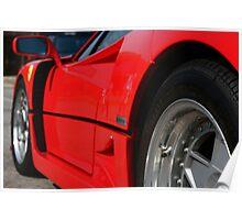 Ferrari F40 - Cars and Coffee Franklin,TN 9-3-11 Poster