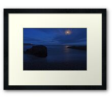 Moonlit Rock - Crosshaven Co. Cork Framed Print
